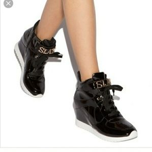 Shoedazzle SLAY Patent Leather Sneakers
